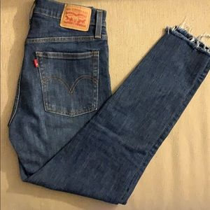 Like new dark, wash Levi's jeans!